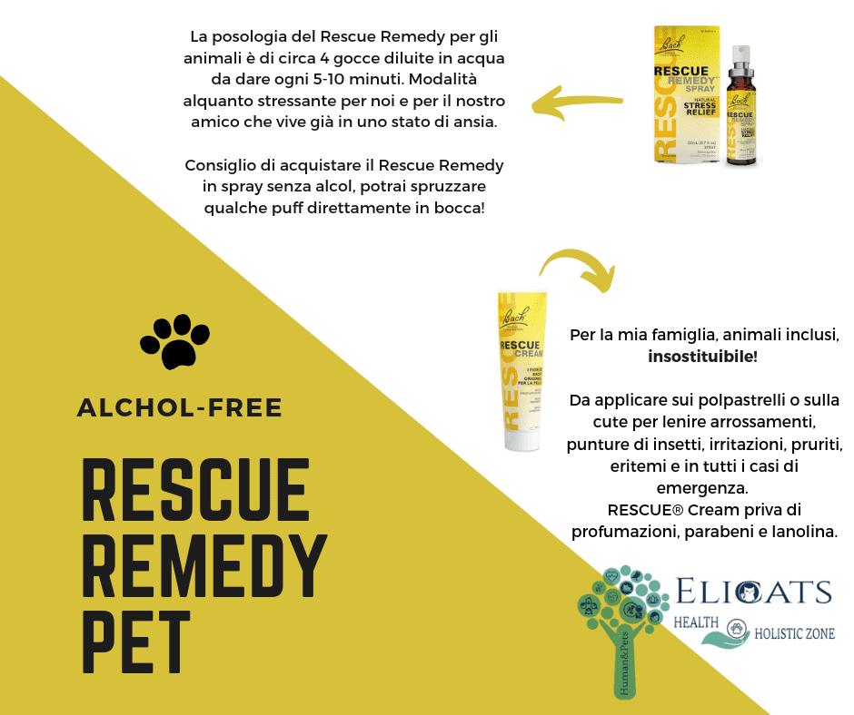 Rescue remedy non alcolico cane gatto