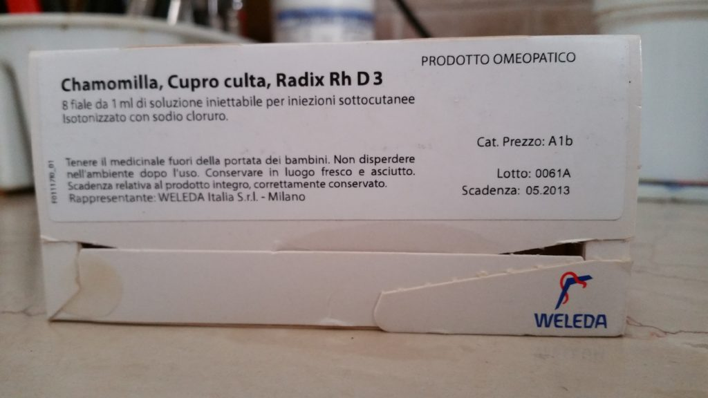 Chamomilla Cupro Radix Rh D3 gatto cane