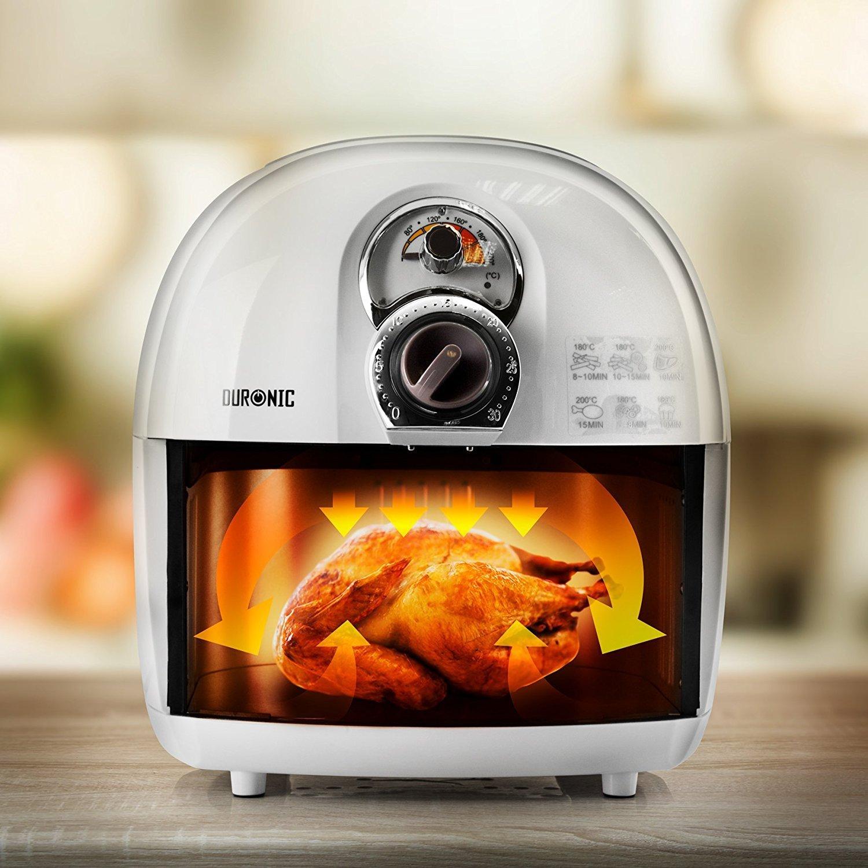 Duronic AF1 /W friggitrice elettrica friggitrice ad aria calda senza olio 1500W