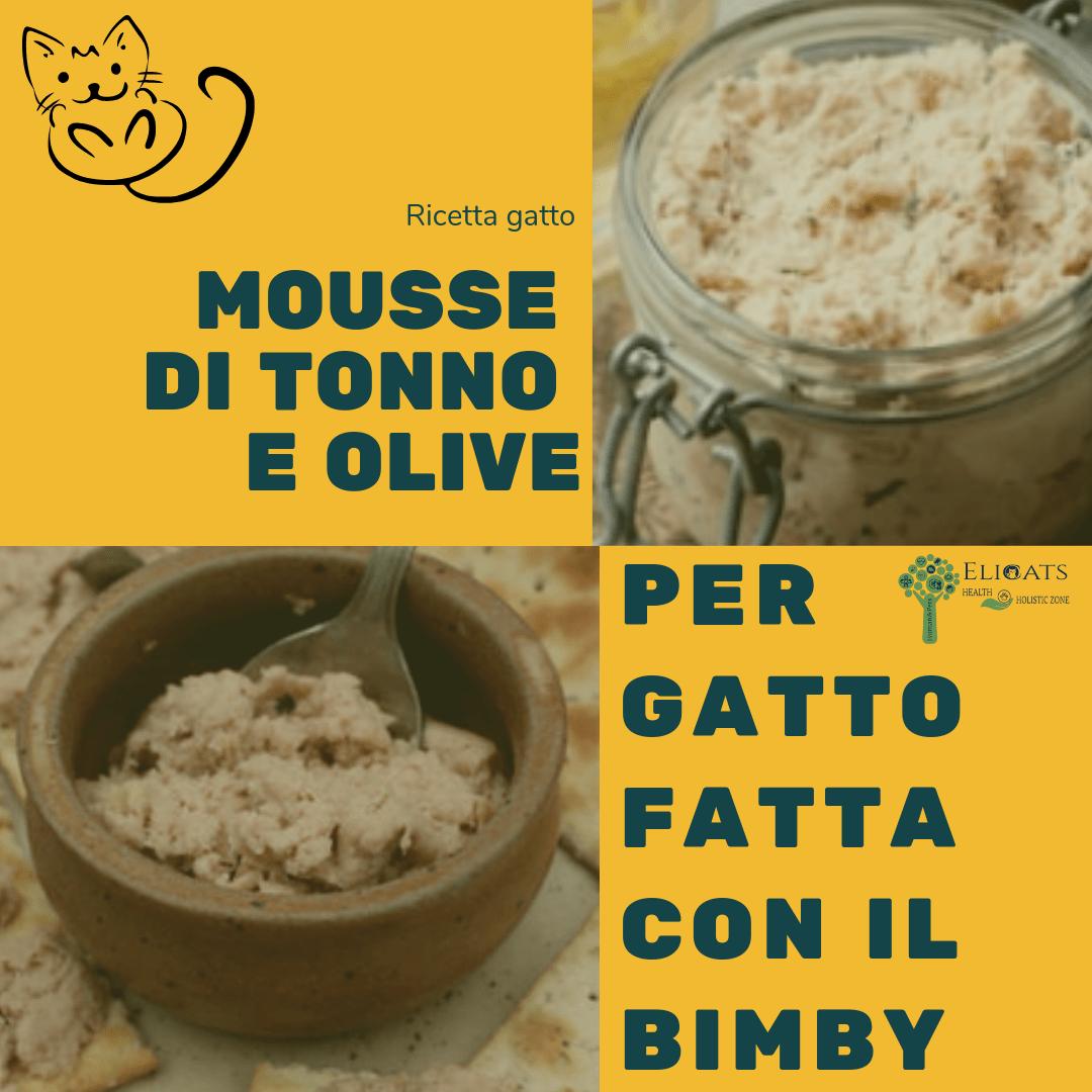 Mousse di tonno e olive per gatto fatta con il Bimby