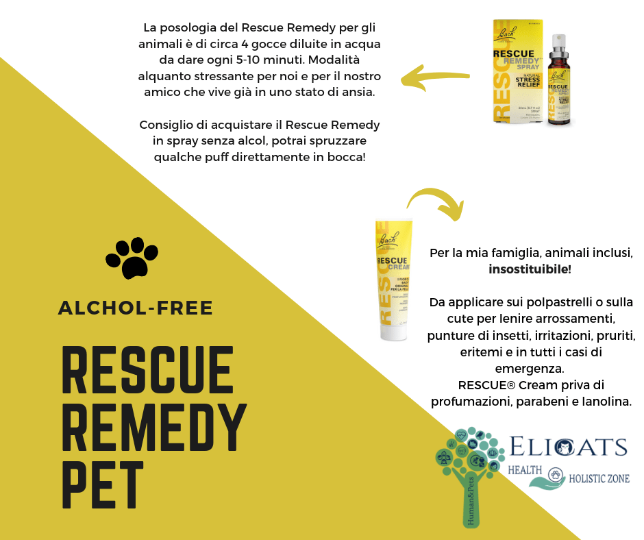 Rescue remedy non alcolico cane gatto